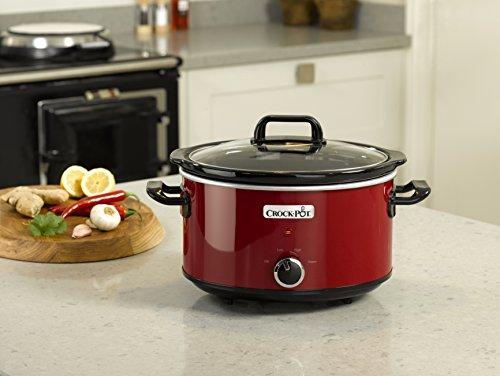 Crock Pot SCV400RD   Olla de cocción lenta de 3 5 L  color rojo