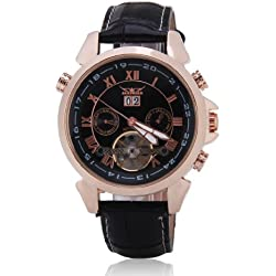 Jaragar Mechanical Automatic Watch Luxury Mens Watch Self-Wind Mechanical Wrist Watch Men Black Tourbillon Watch