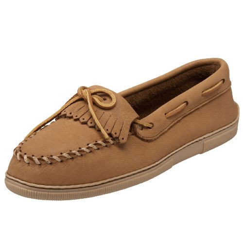 Minnetonka Fringed Kilty 390, Mocassins Femme Beige (Natural)