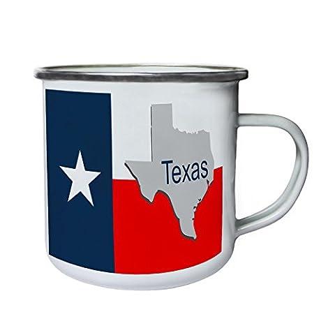 New Texas State Flag Map Retro,Tin, Enamel 10oz Mug i217e