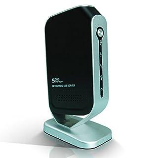 A28 Netzwerk LAN USB Server für USB 2.0 Geräte mit 4-Port-USB Drucker Scanner, Unterstützt Drucker, Lautsprecher, Festplatten, Flashspeicher, Cardreader, Webcam sowie viele weitere Geräte mit USB Anschluss, Anschluss LAN: 10/100 MBit, RJ45, Netzwerk / Transportprotokoll: TCP/IP, DHCP, Betriebsystem: Windows 2000/XP/2003/Vista/7, Geeignet für USB 2.0 Geräte, wie z.B. Multifunktionsdrucker, Scanner, Lautsprecher, Festplatten oder Kartenleser, Farbe: Schwarz-Silber