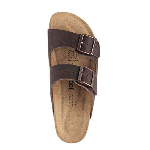 JOE N JOYCE London Natural Pelle sottopiede morbido sandali Normale DarkBrown