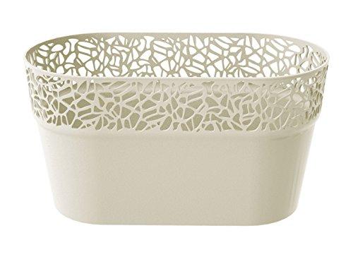 Prosper Plast Dnat275-cy728 27.5 x 14.5 cm Nature Pot de fleurs – Crème