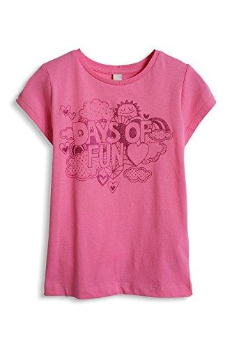 ESPRIT Mädchen T-Shirt 045EE7K005, Gr. 104 (Herstellergröße: 104/110), Rosa (CRYSTAL PINK 592)
