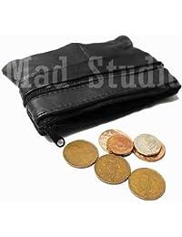 Monedero para Hombres Mujeres Piel Suave Negro calcetín para piezas con cremallera RM04