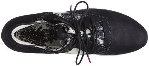 Think  ALOA, Derbies à lacets femme Noir - Schwarz (SZ/WEISS 08)