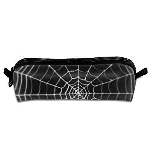 Pengyong Spider Web Federmäppchen für Studenten, mit Reißverschluss, kleine Kosmetiktasche, Make-up-Tasche für Münzen, für Kinder, Jugendliche und andere Schulutensilien