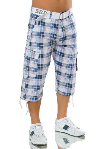 M125 Herren Bermuda Jeans kurze Hose Cargo Shorts Clubwear Bermudas Classics Hellblau