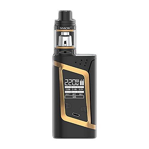 SMOK Alien Kit 220W TC y TFV8 Baby Kit, negro e oro, para la celda 2 x 18650 batería - ni nicotina, ni tabaco