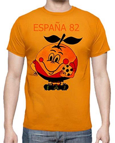 Camiseta Hombre Divertidas Naranjito 82 Mundial ESPAÑA