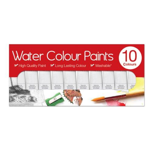 Artbox - Confezione 10 Tubi Pittura Ad Acquerello Da 6ml