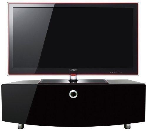 Handwerker-schrank (MDA Designs Cubic Curve 1000 für bis zu 52-Zoll-Bildschirm inklusive Kabelführung - Beam-Thru Fernbedienungsnutzung durch TV Schrank möglich)
