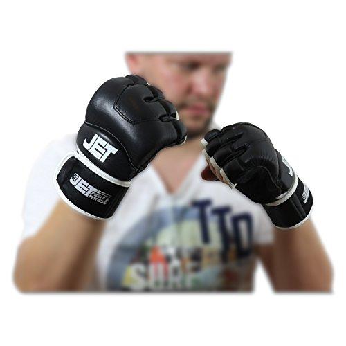 MMA Handschuhe Leder Jet fight & fitness ®–  Handarbeit – GRATIS EBOOK - Boxhandschuhe schützen Fäuste Abbildung 3