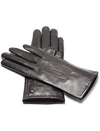 0a2594f0c7403f napo gloves napoCLASSIC - klassische Touchscreen Lederhandschuhe für Damen  aus Lammnappa Leder in Schwarz mit Fütterung