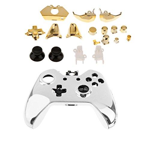 Generic Für Xbox One Gaming Controller - Ersatz Voll Shell Mod Kit Gehäuse + Button Schutzhülle - Gold (Gold Xbox Shell)
