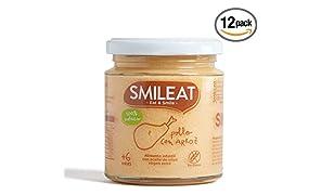 Smileat Potito de Pollo con Arroz - 230 gr - [Pack de 12]