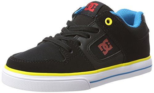 Dc-jungen Skate Schuhe (DC Shoes PURE ELASTIC,   Sneaker, Schwarz (Black/Multi), 34 EU (2 UK))