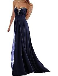 JAEDEN Mujer Elegante Sin tirantes Gasa Vestido de fiesta Largo A-line Vestido de noche Vestido de Partido Vestido de…
