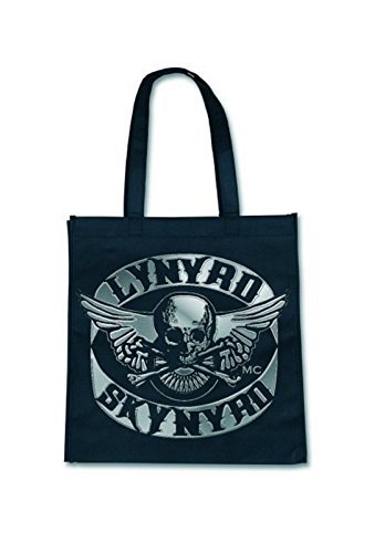 Lynyrd Skynyrd Bike Patch offiziell Nue Schwarz Eco Shopper Bag (T-shirt Skynyrd Damen Lynyrd)