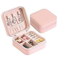 HaiQianXin Women Travel Portable Jewellery Box Organizer Mini Jewel Storage Case (Color : Pink)