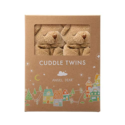 Angel Dear Cuddle Twins Blankie, Brown Bear by Angel Dear