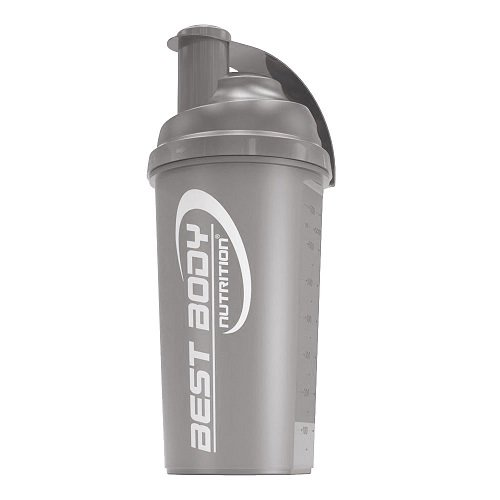 Eiweiß Shaker 700ml, black steel ()