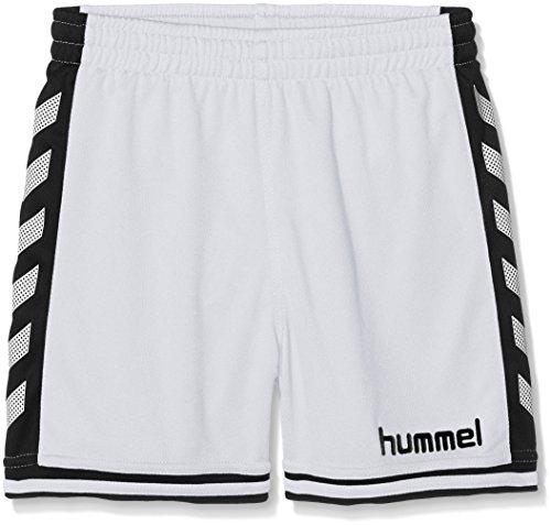 Hummel Jungen Shorts Sirius, White/Black, Gr.14-16 (Herstellergröße:164-176)