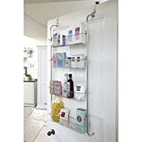 Taylor & Brown® 4 Tier Chrome Over Door Hanging Kitchen Bathroom Storage Rack Shelves