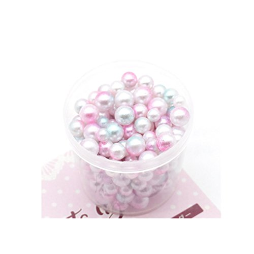 Malloom® 200PC Regenbogen-bunte Perlen-dekorativer Schlamm bördelt DIY Handwerk für crunchy Schleim Schleim DIY Spielwaren Keine Loch-Bälle Keine Loch-Perlen (B)