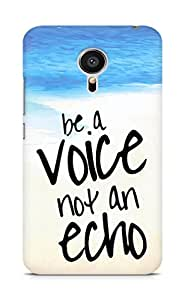 AMEZ be a voice not an echo Back Cover For Meizu MX5