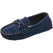Niños Niñas Zapatos Casuales Mocasines Antideslizantes Moda Zapatos Suaves Gamuza Comodidad Unisex Zapatos para Niños Pequeños