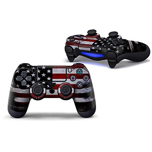 Morbuy Design PS4 Schutzfolie Skin Sticker Aufkleber Set styling für Sony Playstation 4 Controller X 1 ( Auch PS4 Slim & PS4 Pro ) (America)