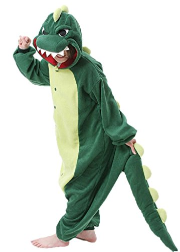 Nndoll pigiama donna animale uomo bambini cosplay animali costume camicie notte carnevale halloween verde coccodrillo ( dinosauro s)