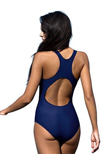 Badeanzug fur Damen endurance einteiliger Schwimmanzug Vorgeformte BH-Cups V1