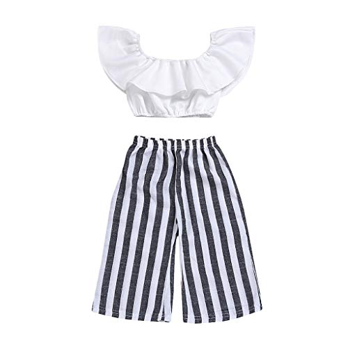 jieGREAT ❤❃ Räumungsverkauf ❤❃ , Neugeborene Kleinkind-Baby Girls Clothes T-Shirt Tops Striped Pants Sets Outfit Striped Set