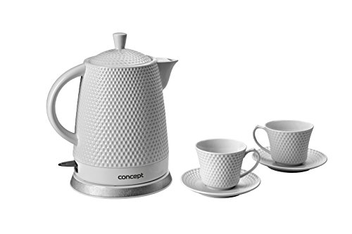 CONCEPT Hausgeräte RK-0040 Keramik Wasserkocher + 2 Tassen 1.5L 2200W - Bild 4