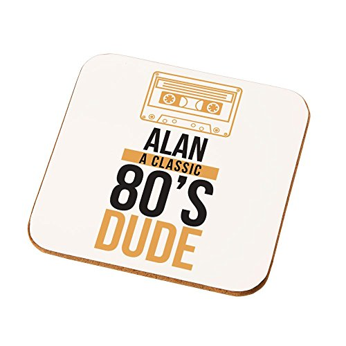 Personalised 80's Dude Drinks Coaster x 1