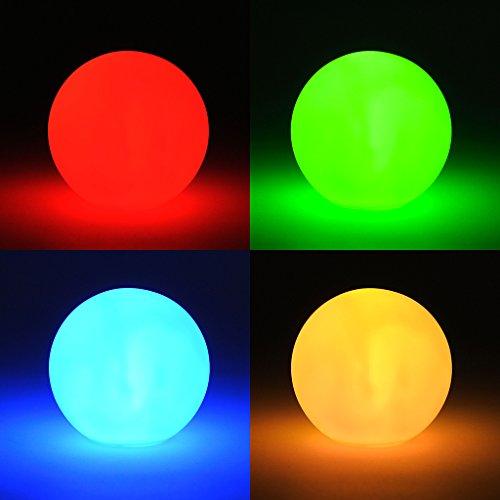 (levandeo LED Kugel Farbwechsel - Kleine LED Lampe inklusiv Batterien - Leuchte Effektkugel Leuchtkugel Deko Farbwechsler Stimmungskugel)