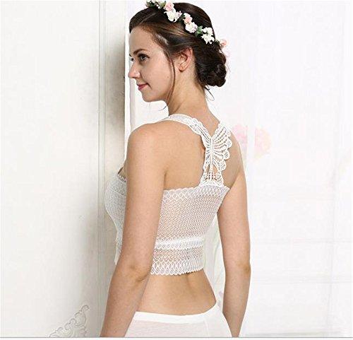 Hippolo Harnais de Mode Avec Papillon Anti-odeur à L'arrière de la Veste de Caisse en Forme de Lacet(Tous les codes) (2, Blanc) Blanc