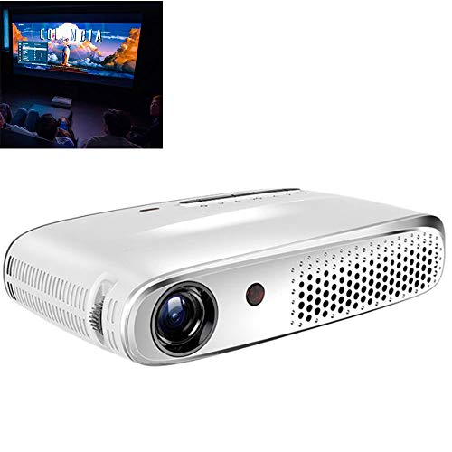 GJZhuan Projecteur RD-602 Full HD Mini-projecteur Portable Le Projecteur LED 2250 Lux Prend En Charge Un Écran 1080p, Compatible Avec PS4, HDMI, VGA, TF, AV Et USB (Farbe : Weiß)
