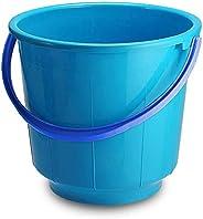 Kuber Industries Unbreakable Strong Plastic Bathroom Bucket 13 LTR (Blue) -CTKTC037903