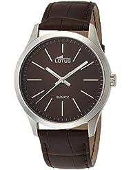 Lotus  15961/2 - Reloj de cuarzo para hombre, con correa de cuero, color marrón