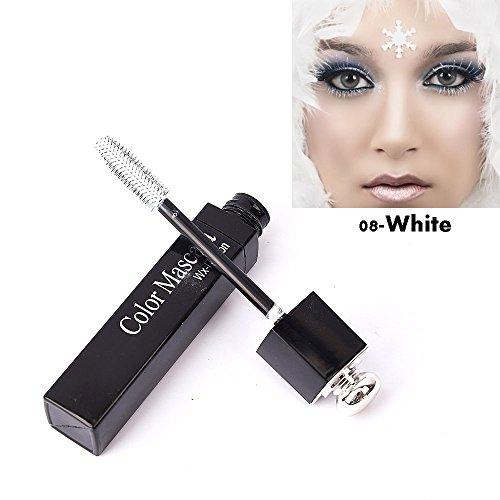 3D Langlebige Bunte Wimperntusche Curling Wimpern Augen Make-Up Kosmetische Werkzeug Wasserdicht Farbe Kosmetik Augen Wimpern Verlängerung Cosplay Mascara Blanc