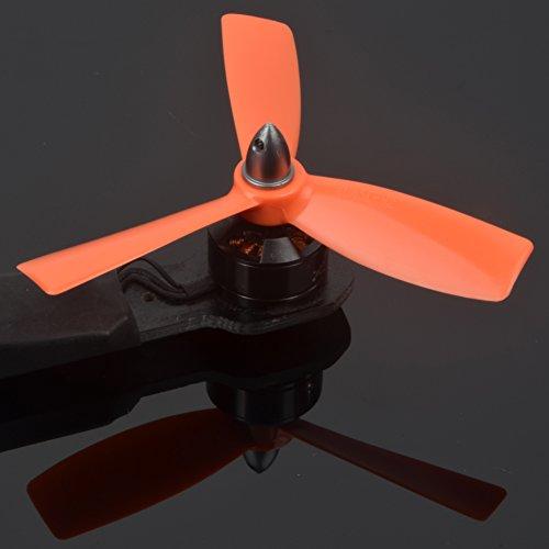 Tri-Lame 4045 V2 Bullnose Elica (4 Set, 8CW, 8CCW) 4 Pollici 3 Lame 4045x3 Indistruttibile Durevole Potente Equilibrata Leggera Elica per Drone By XSOUL - ARANCIA