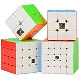 Roxenda Moyu Aolong profesional Cubo Mágico 3x3x3 Puzzle cubo de la velocidad V2 juguetes clásicos (MoYu Cubo de Velocidad Bundle)