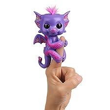 Wow Wee Kaylin Fingerlings Baby Dragon Color Morado WowWee 3584