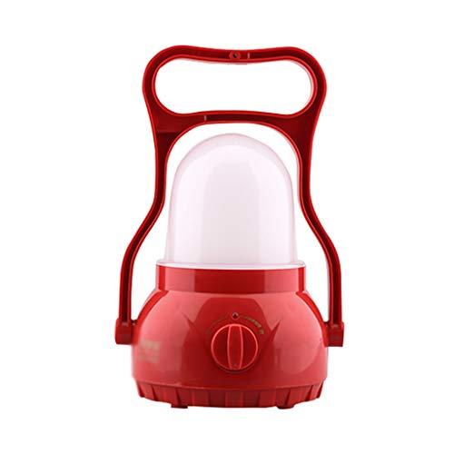 GQQ Tragbare Wiederaufladbare LED Camping Laterne Super Bright LED Zelt Lampe Dimmbar,Red
