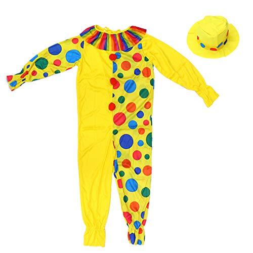 Clown Kostüm Harlekin Freche - BESTOYARD Halloween Kostüme Kinder Zirkus Clown Kostüm Frech Harlekin Fancy Cosplay Kleidung für Kinder (XL)