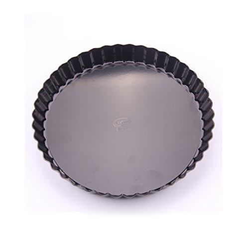 Gabkey Backform Tortenform Quicheform mit Hebeboden Kuchenform Obstkuchenform aus Kohlenstoffstahl antihaftbeschichtet rund 26cm