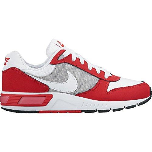 Nike Nightgazer (Gs), Scarpe da Corsa Uomo Bianco/bianco-rosso-grigio (white/white-university red-wolf grey)